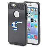 Apple iPhone 5 5s Shockproof Impact Hard Case Cover Greece Greek Flag (Black )