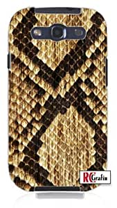 Cool Snake Skin Animal Boots Unique Quality Soft Rubber PC Case for Samsung Galaxy S4 I9500 - White Case