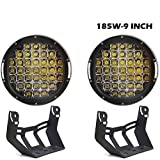 "Uni Filter 9"" INCH Round Led Light 15000LM 185W Front Bum..."