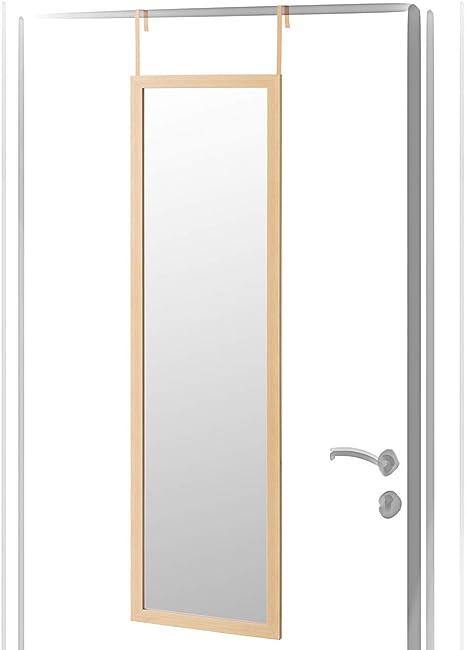 Espejo de Puerta Beige de plástico clásico para Dormitorio de 35 x 125 cm France - LOLAhome: Amazon.es: Hogar
