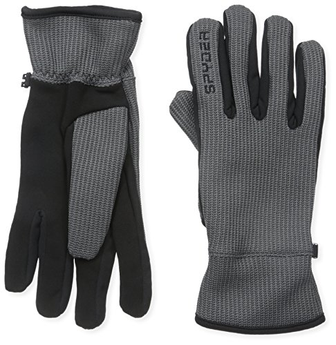 (Spyder Men's Core Sweater Conduct Glove, Polar/Black, Large)