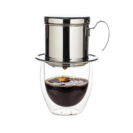 WHJY Vietnamitas filtro de café inoxidable sin papel mecanismo para la cocina casera oficina al aire