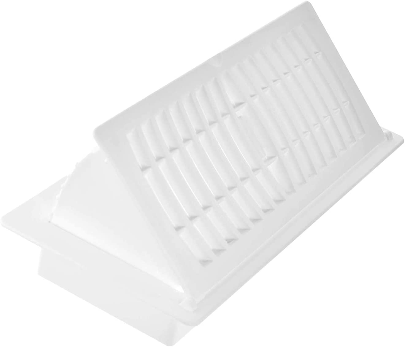 """Hartford Ventilation Pop Up Floor Vent Register - 4"""" x 12""""(Duct Opening) - Air Vent Deflector for Home Heat/AC - Extender for Under Furniture, Couch, Cabinetry - Floor or Ceiling Use (1, White)"""