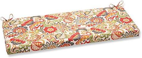 Pillow Perfect Outdoor Indoor Zoe Citrus Bench Swing Cushion, 45 x 18 , Green