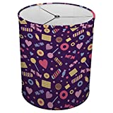 Hardback Linen Drum Cylinder Lamp Shade 8'' x 8'' x 8'' Spider Construction [ Purple Candy Love ]