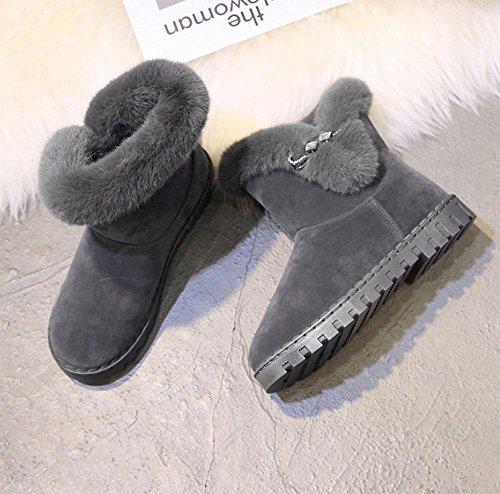 Fondo Gray Botas Botas Mujer Moda Además El Plano Aumentadas En Engrosadas Zapatos Terciopelo De Ocio Interior Deportes Meili Grueso Nieve qBwX44H