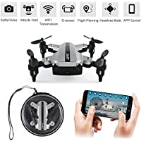 JJRC H54W E-FLY Mini Drone Foldable Pocket Quadcopter Selfie Drone FPV Wi-Fi Phone Control 480P Camera G-sensor Altitude Hold Headless Mode One-key Return Valentines Day Gift