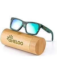 Bamboo Wood Polarized Sunglasses For Men&Women Retro...