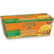 Annie's Real Aged Cheddar Macaroni & Cheese, Microwavable Mac & Cheese, 12 Cups, 4.02 oz each
