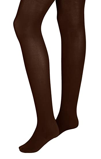 8ef212c0e8213 Intimate Portal Women Over the Bump Maternity Opaque Tights 100 Denier Dark  Brown at Amazon Women's Clothing store: