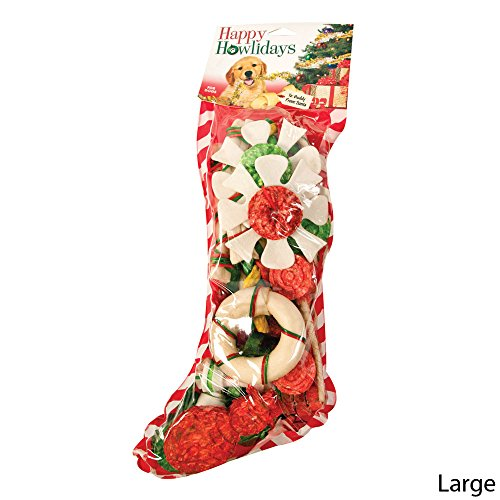 Pet Factory 90408 Large Holiday Stocking for Dogs. 25 Pieces.