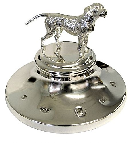 Sterling Silver Paperweight Dog