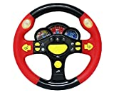 Children's Steering Wheel Toys Baby Early Childhood Educational Driving Simulation (Red and Black) by TOGCO