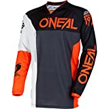 O'Neal Mens Mayhem Lite Split Jersey (Black/Orange, X-Large)
