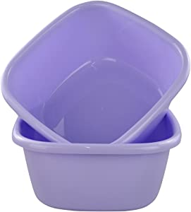 Jekiyo 16 Qt Purple Wash Basin, Large Plastic Tubs, 2-Pack