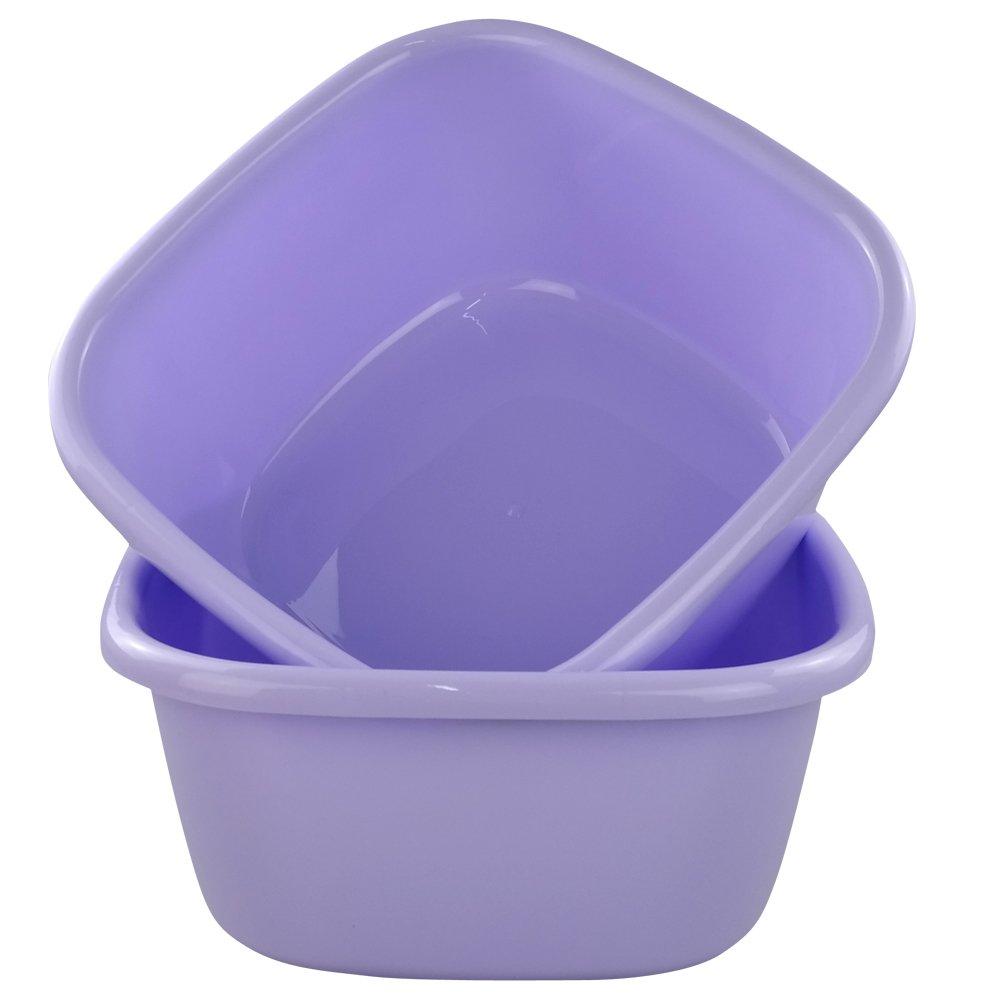 Jekiyo 16 Qt Purple Wash Basin, 2-Pack