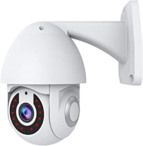 Tuya Smart Camera HD 1080P Outdoor/Indoor Wireless WiFi IP Camera for Home Security 2-Way Audio Auto Tracking Night Vision IP65 Waterproof, Works with Alexa & The Google Assistant/ Smart Life APP