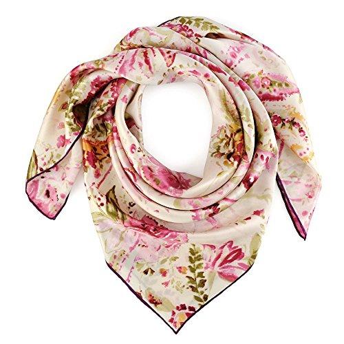 Coloris De Premium Rose Medusa cm Du Soie 2 85x85 Allée Carré Foulard w6WtX