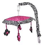 zebra crib mobile - Musical Mobile for Hot Pink Zebra Baby Bedding Set