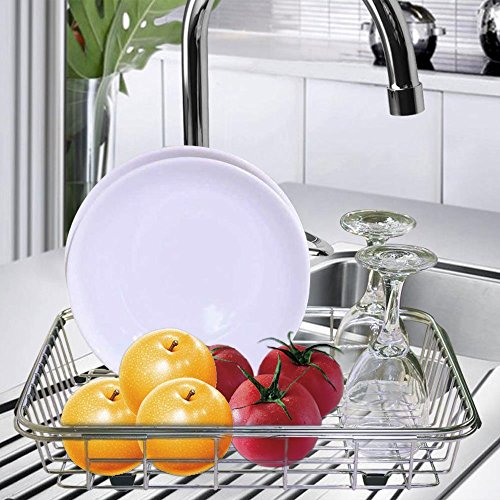dish rack drying kitchen drainer steel stainless over sink. Black Bedroom Furniture Sets. Home Design Ideas