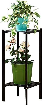Estantes para plantas / estanteria jardin Soporte de madera para flores 2 capas 3 capas Estante de flores negro Adecuado para jardines interiores y exteriores y otras escenas estanterias de jardin: Amazon.es: Hogar