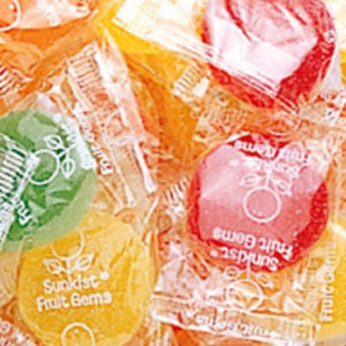 Individually Wrapped Slices (Sunkist Fruit Gems Chewy Candy 1LB Bag)