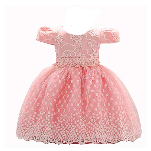 Back Baby Dress - LZH Baby Girl Dress Formal Christening Baptism Gowns Pageant Dress Toddler