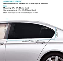 Universal Car Curtains Fit for Cars Pack of 2,Large Size ZOTO Car Rear Window Sun Shade Trucks and SUVs Breathable Mesh Sun Shield Protect Baby Pet from Suns Glare /& Harmful UV Rays