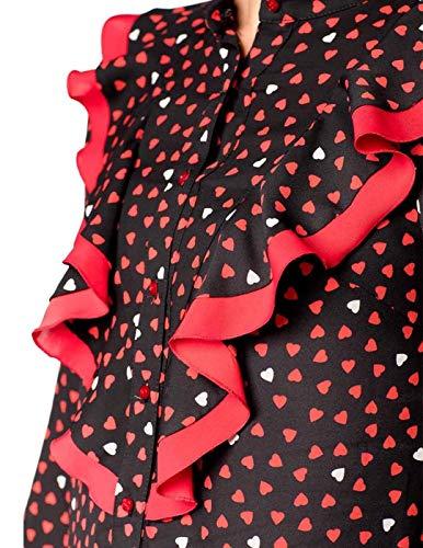 Chokolat Chokolat Corazones Camisa Camisa Mujer Mujer Negro Corazones r4w1rZq
