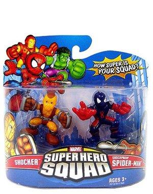 - Marvel Superhero Squad Series 11 Mini 3 Inch Figure 2Pack Shocker & Shockproof SpiderMan