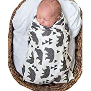 Newborn Baby Cute Beer Print Receiving Blankets Warm Sleepsack Stroller Wrap size 0-3Years/6080cm (White)