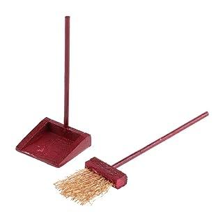 MagiDeal Scopa con Dustpan Attrezzi Pulizia Miniatura Broom Paletta per Casa Bambola