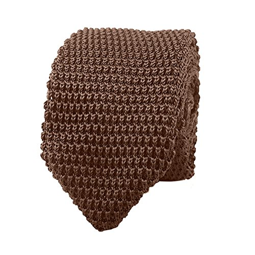 necktie Fashion knitted woven Tie men Men's tie gift handmade Knitted Tie Kaffee Landslide fwAazqxA