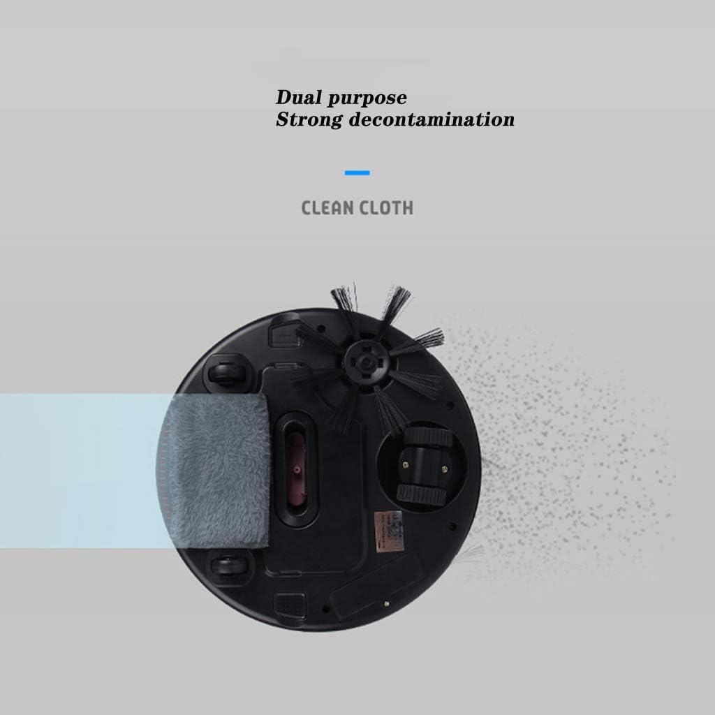 LHY Kitchen Aspirateur Robot, Intelligent ménages Charge Balayer/Aspirer/Mopping intégré Trois-en-Un Balayage Automatique Mop Aspirateur,Rose White