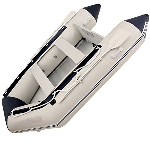Inflatable Boat With Motor  Cheesea Boats Inflatable With 3 Independent Air Chambers Outboard Motor Transom Inflatable Raft  V Keel Bottom Inflatable Boat  Crash Barrier 7 55 9 8 10 8 Ft Dinghy Boat