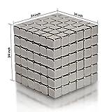 EDC Fidgeter 3mm Magnetic Cube Puzzle Prime Quality Fidget Toys Fidget Cube, 216 Pieces. Ideal Office Stress Relief Executive Desk Toy. Magic Metal Square Fidget Magnets Cool Gadget.