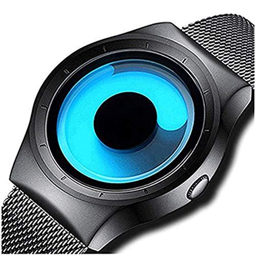 Bonjour Analogue Blue Unique Dial Ultra Platform Metal Black Belt Men Watch & Boys Watches-Bon_1