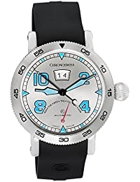 Retrograde Day Automatic Swiss Made Mens Watch Galvanic Dial CH-8143