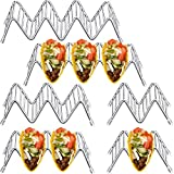 6 Pack Taco Holder, QYUKUYU Stainless Steel Taco Stand Rack W Space for 12 to 18 Space for Hard or Soft Shells