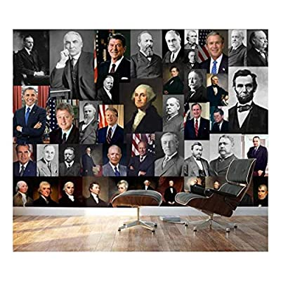 Peel and Stick Wallpapaer Presidents of United States Collage Removable Large Wall Mural Creative Wall Decal, Premium Creation, Incredible Artisanship