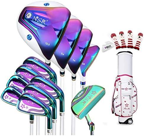 ゴルフスーツバッグ 伸縮バッグパッケージにゴルフクラブの女性のフルセット(12個)3ウッドを含む、ミックス、5-PWアイアン(通常サイズ) (Size : Carbon rod)