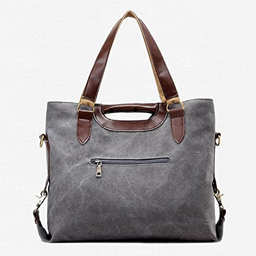 Large Tote Shoulder and UNYU Bags Easy Bag Ladies Canvas Shopping Travel For Matching Hobo Khaki Stylish TqEEHRw