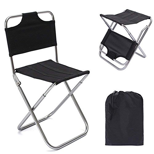 (GZQ Camping Chair Portable Folding Lightweight Chair Seat Stool with Carry Bag for Outdoor Backpacking Fishing Hiking Golfing Travel Picnic Photography Gardening Sporting Events )