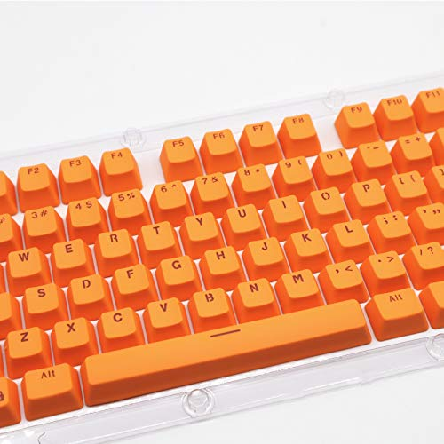 Puyong 104 Keys PBT Keycap Set for Cherry Mx Kailh/Outemu Switch/Gateron Switch Keyboard/Most Mechanical Keyboards(Only keycaps),Orange