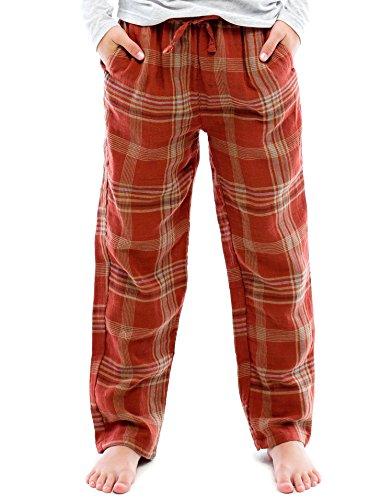 TINFL Boys Plaid Check Soft 100% Cotton Lounge Pants BP-31-Bricks-YS