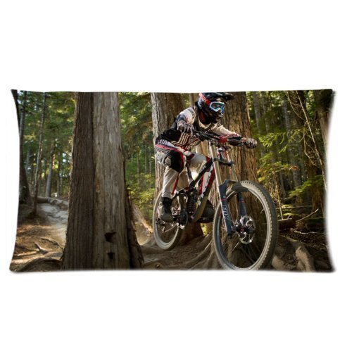 Custom Special Design Mountain Bike Cycling Rectangle Pillowcases Pillow cover,20x36 inches (Two Sides Printing) ()