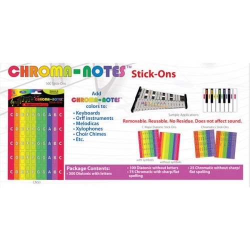 Chroma-Notes Stick-Ons by Boomwhackers