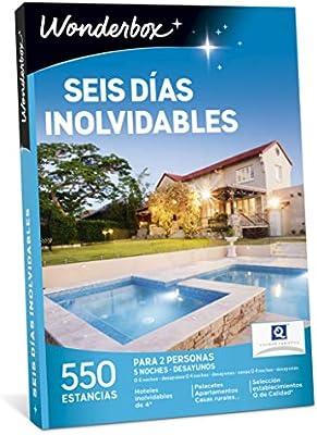 WONDERBOX Caja Regalo - Seis DÍAS INOLVIDABLES - 550 estancias en ...