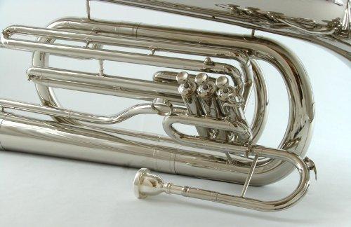 Schiller Field Series Big Bell BBb Marching Tuba - Nickel
