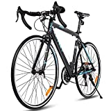 Goplus Road Bike Commuter Bike Shimano 700C Aluminum 21 Speed Quick Release Racing Bicycle